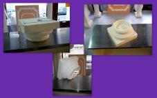 socle chapiteau pour colonne 18cm STAFF