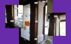 pilastre cannelées 30cm staff decors muraux colonne platre chapiteau base