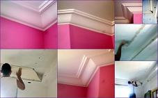 corniche plafond staff platre de moulage déco