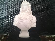Louis XIV buste en plâtre de moulage statuette deco
