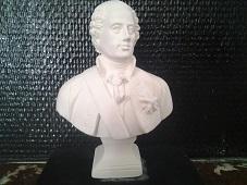 Louis XV buste en plâtre de moulage statuette deco