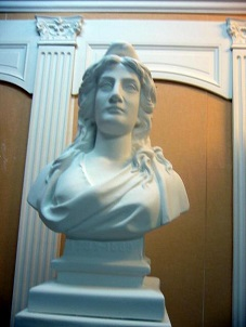 grand buste Maianne Mairie statue moulage platre sculpture staff art déco cadeaux