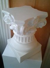 colonne corinthienne staff platre déco socle moulage art pilier