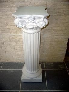 colonne corinthienne staff cannelée pilier platre socle sculpture deco