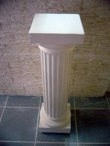 colonne dorique staff cannelée pilier platre socle sculpture deco
