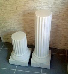 colonne tronqué staff cannelée pilier platre socle sculpture deco art
