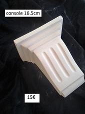 console chapiteau colonne ionique staff platre console déco socle moulage art