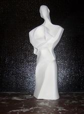 Statue abstrait design alpha staff (platre armé) article neuf Sculpture