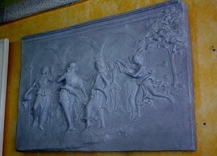 bas relief plâtre staff tableau danse farandole libéron art déco moulage