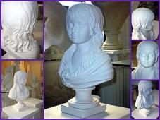 buste LOUISXVII statue sculpture staff plâtre déco moulage art