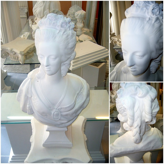 bustes sculpture en staff platre de moulage arm de filasse. Black Bedroom Furniture Sets. Home Design Ideas