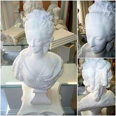 buste marie antoinette statue sculpture staff plâtre déco moulage art