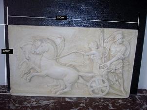bas reilef antique tableau staff plâtre moulage art deco