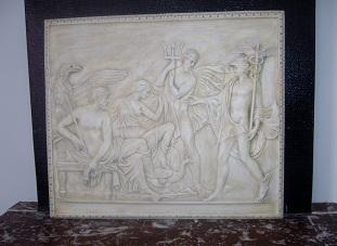bas reilef antique dieux greque romain tableau staff plâtre moulage art deco