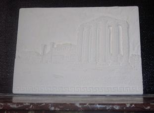 bas reilef Parthénon tableau staff plâtre moulage art deco