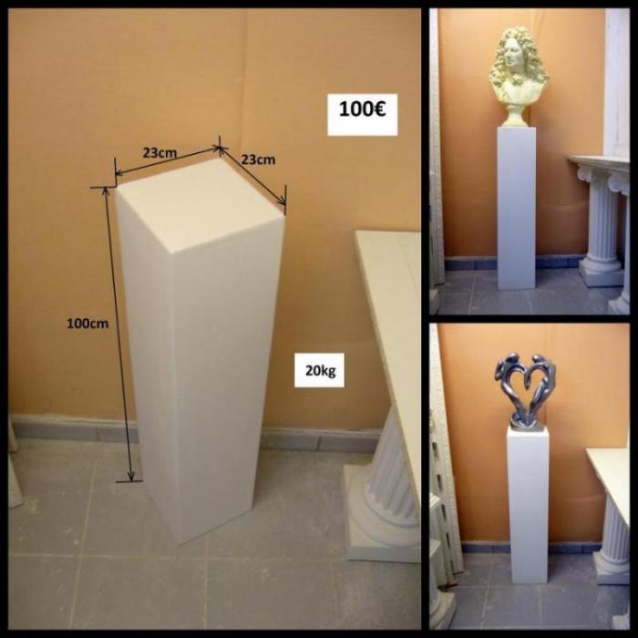 colonnes en staff platre de moulage arm de filasse. Black Bedroom Furniture Sets. Home Design Ideas