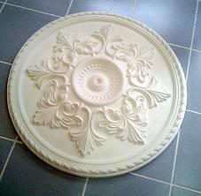 rosace 83cm staff plâtre déco décoration plafond moulage art ornement moulure architecture