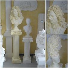 buste vauban patiné statue sculpture staff plâtre déco moulage art