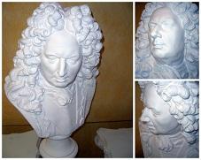 buste vauban statue sculpture staff plâtre déco moulage art